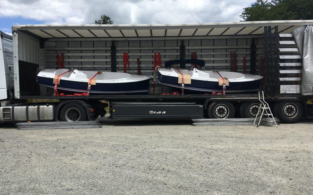 Transport de bateaux électriques dans les Gorges du Verdon par 100% fret
